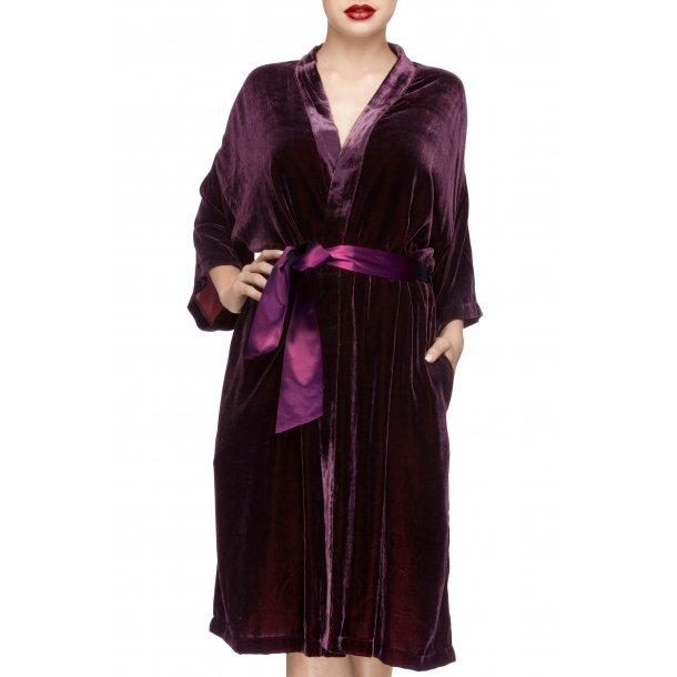 Silke velour kimono - Bordeaux