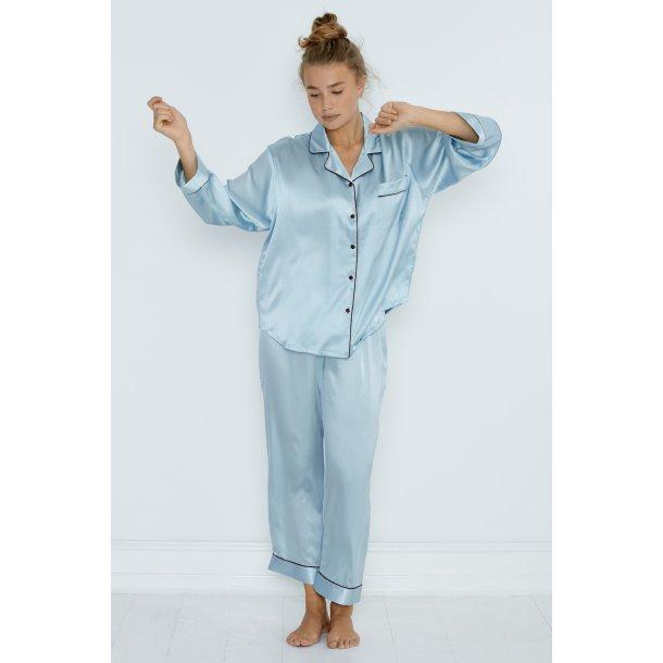 Pajamas silk blue