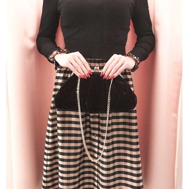 Sonja Love Velvet shoulder bag - Black