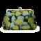 Clutch/ skuldertaske - Grønne palmer