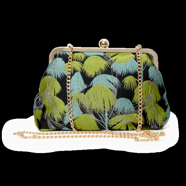 Kæde til taske - Grønne palmer