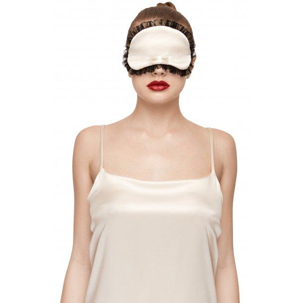 Miss Holly Blue silk sleeping mask