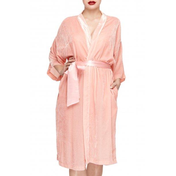 Sonja Love velour kimono - Pudder